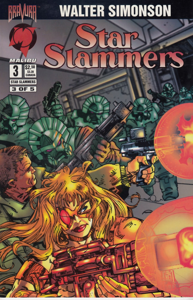 Couverture de Star Slammers -3- The Minoan Agendas Chapter Three: The Invaders!