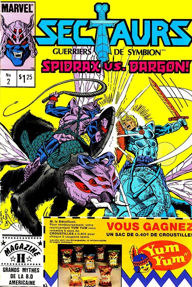 Couverture de Les sectaurs (Éditions Héritage) -2- Le brouillard mortel!