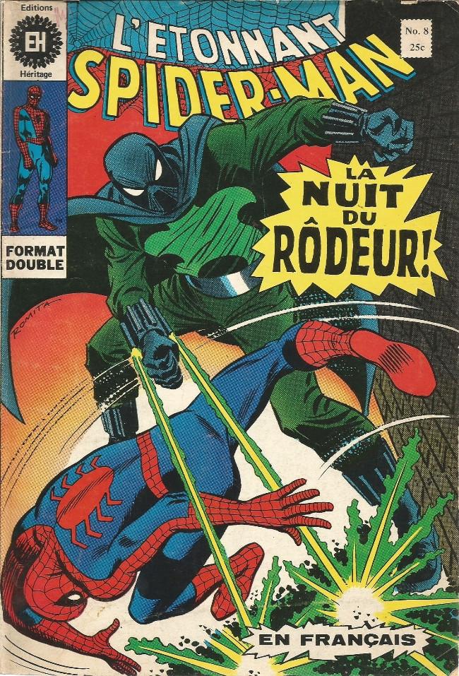 Couverture de L'Étonnant Spider-Man (Éditions Héritage) -8- La nuit du Rôdeur