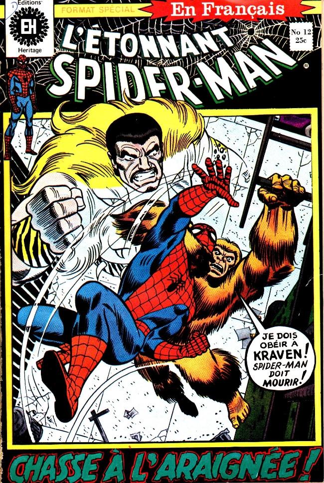 Couverture de L'Étonnant Spider-Man (Éditions Héritage) -12- Chasse à l'araignée!