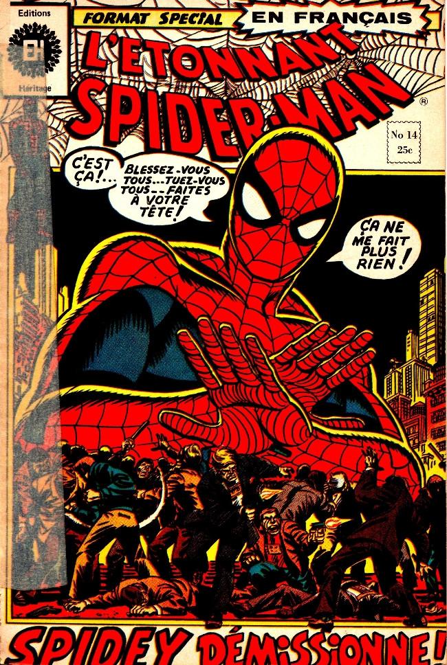Couverture de L'Étonnant Spider-Man (Éditions Héritage) -14- Spidey est-il un lâche?