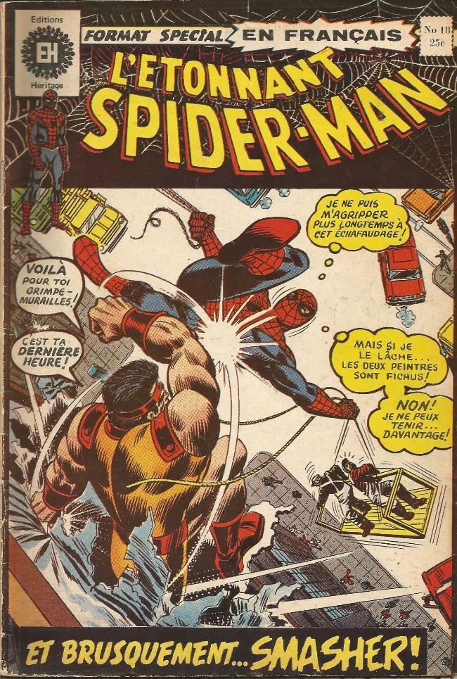 Couverture de L'Étonnant Spider-Man (Éditions Héritage) -18- Soudain arrive... le Smasher!