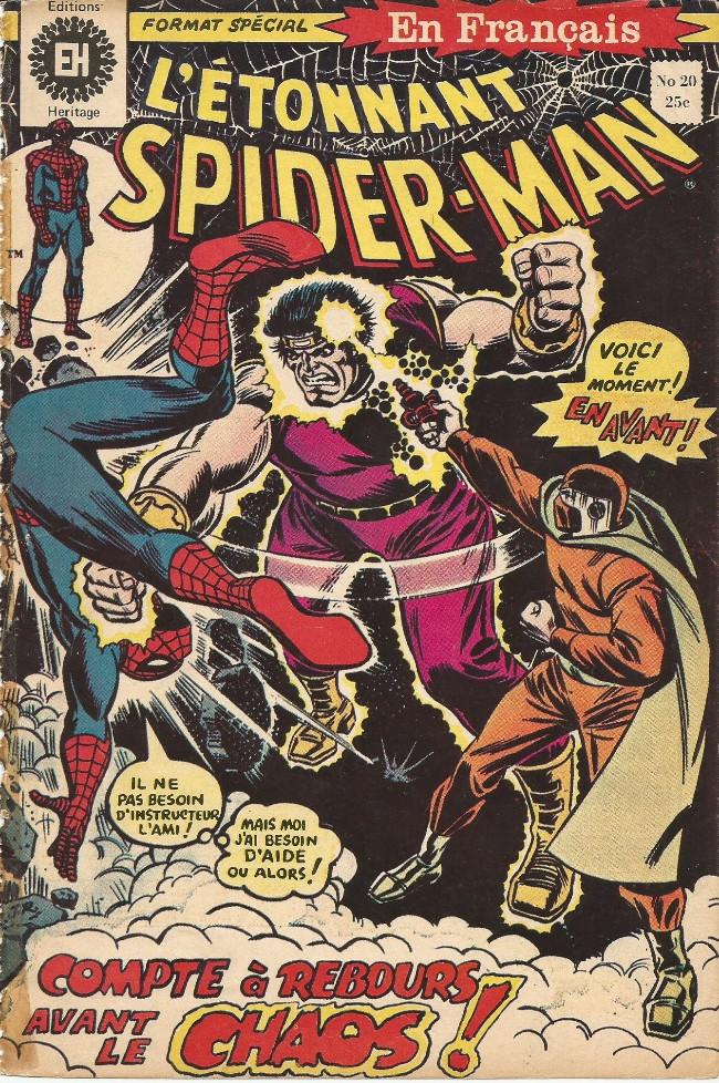 Couverture de L'Étonnant Spider-Man (Éditions Héritage) -20- Compte-à-rebours avant le chaos!