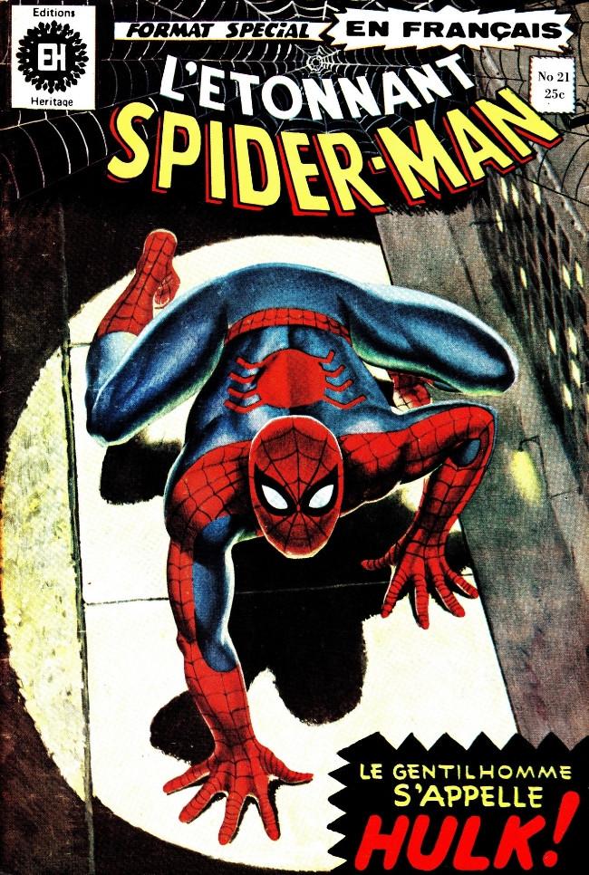 Couverture de L'Étonnant Spider-Man (Éditions Héritage) -21- Le gentilhomme s'appelle... Hulk!