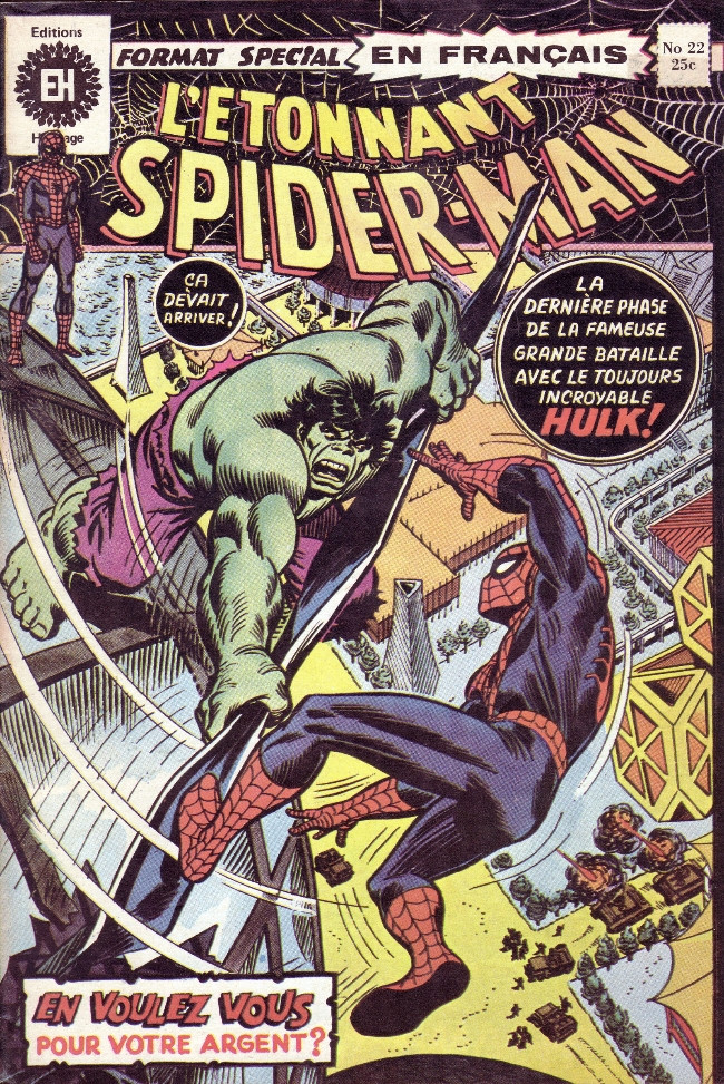 Couverture de L'Étonnant Spider-Man (Éditions Héritage) -22- La lutte et la furie!