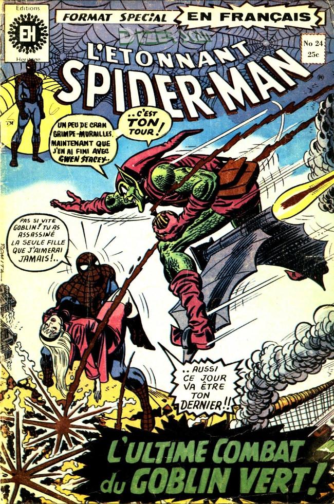 Couverture de L'Étonnant Spider-Man (Éditions Héritage) -24- L'ultime combat du Goblin Vert!