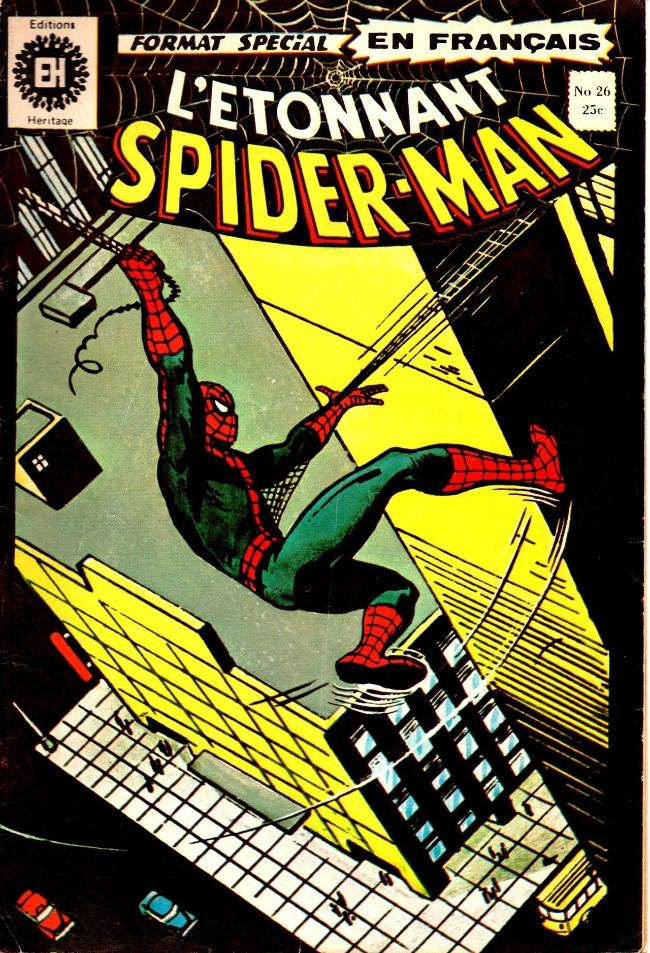 Couverture de L'Étonnant Spider-Man (Éditions Héritage) -26- Le signe de l'Homme-Loup