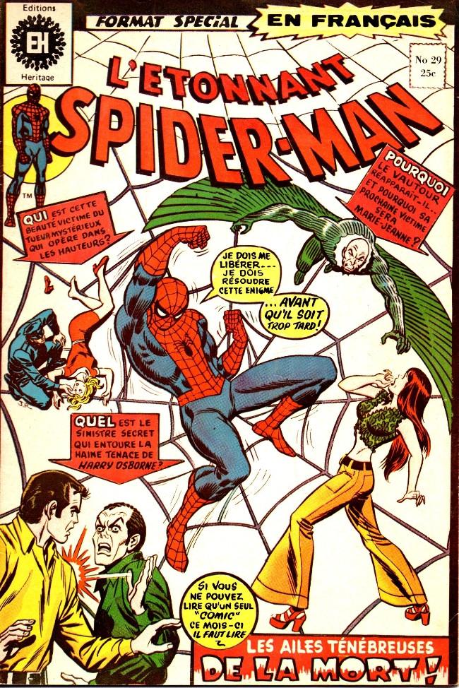 Couverture de L'Étonnant Spider-Man (Éditions Héritage) -29- Les ailes ténébreuses de la mort!