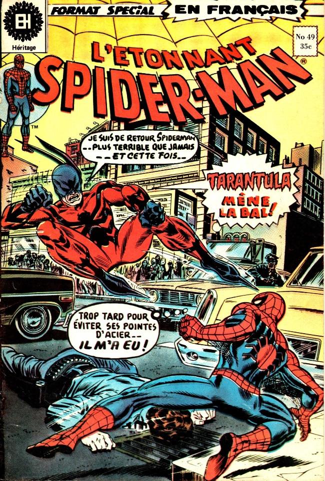 Couverture de L'Étonnant Spider-Man (Éditions Héritage) -49- La tarentule est une bête très dangereuse!