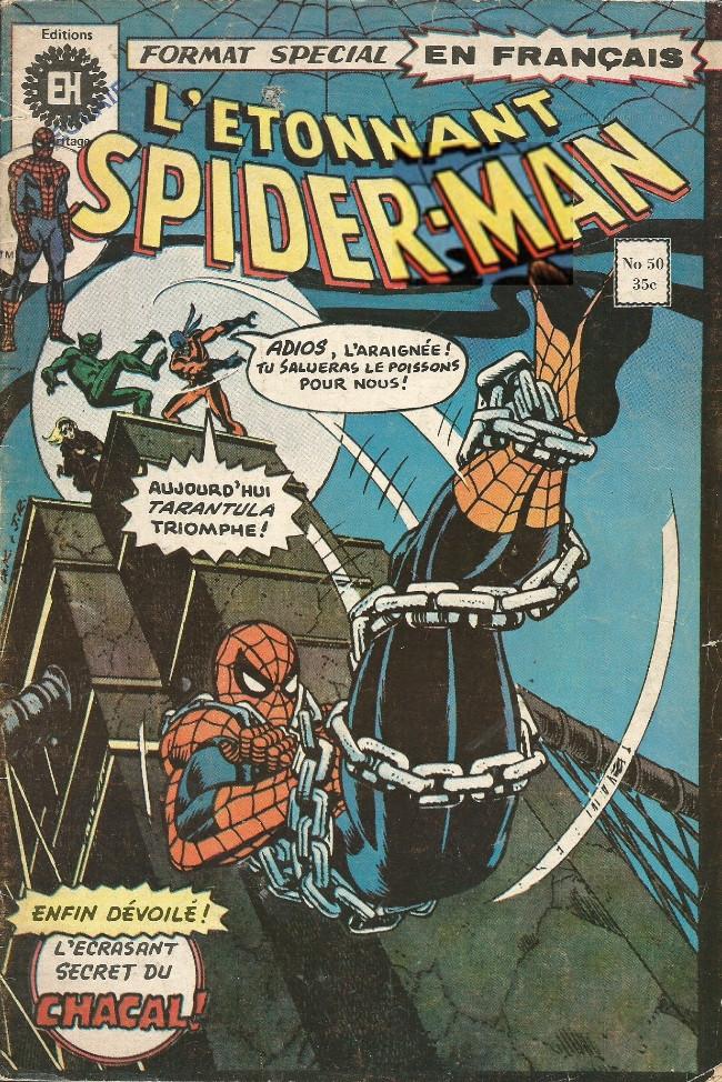 Couverture de L'Étonnant Spider-Man (Éditions Héritage) -50- Chacal... Où es-tu?