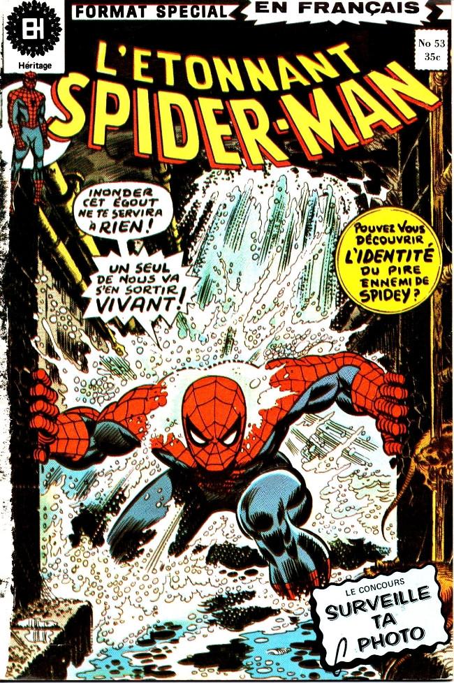 Couverture de L'Étonnant Spider-Man (Éditions Héritage) -53- Escarmouche sous les rues!