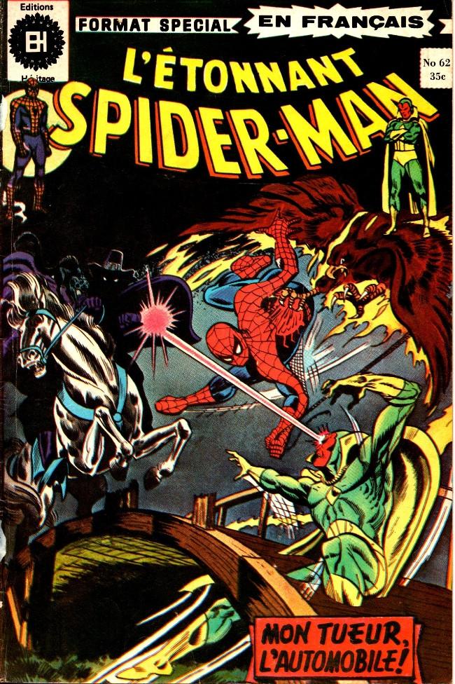 Couverture de L'Étonnant Spider-Man (Éditions Héritage) -62- Mon tueur, l'automobile