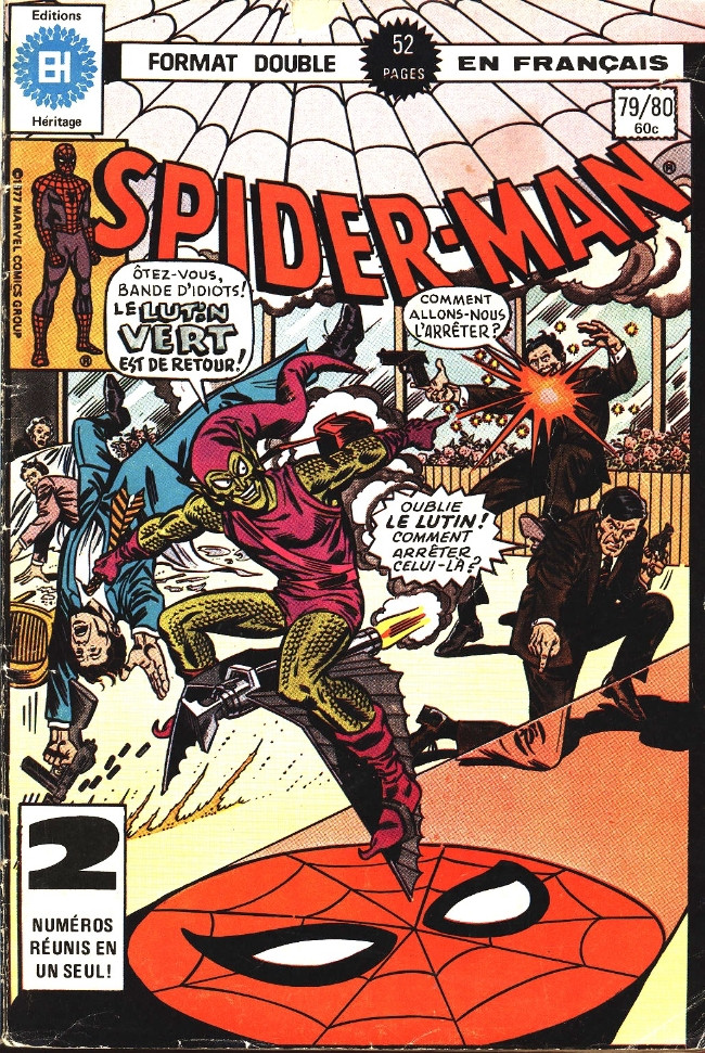 Couverture de L'Étonnant Spider-Man (Éditions Héritage) -7980- Goblin au milieu