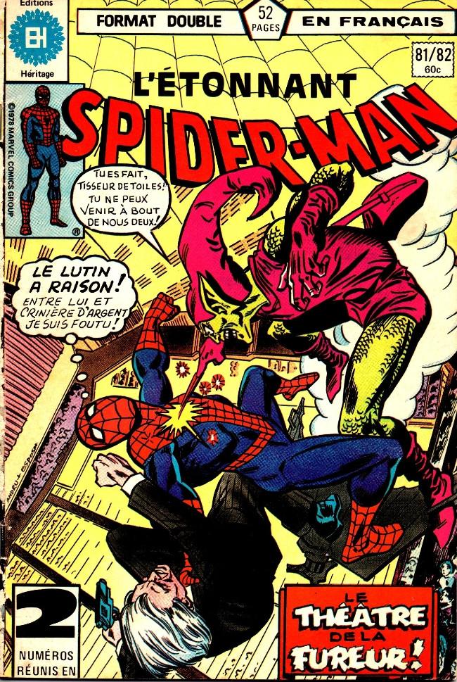 Couverture de L'Étonnant Spider-Man (Éditions Héritage) -8182- Le lutin est toujours plus vert...!