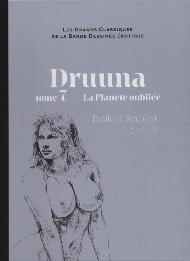 Couverture de Les grands Classiques de la Bande Dessinée érotique - La Collection -6644- Druuna - tome 7 La Planète oubliée