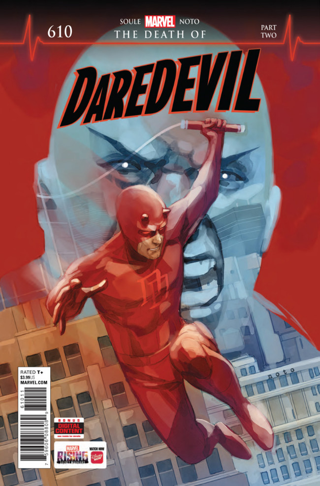 Couverture de Daredevil (1964) -610- The Death of Daredevil - Part 2: Pistanthrophobia