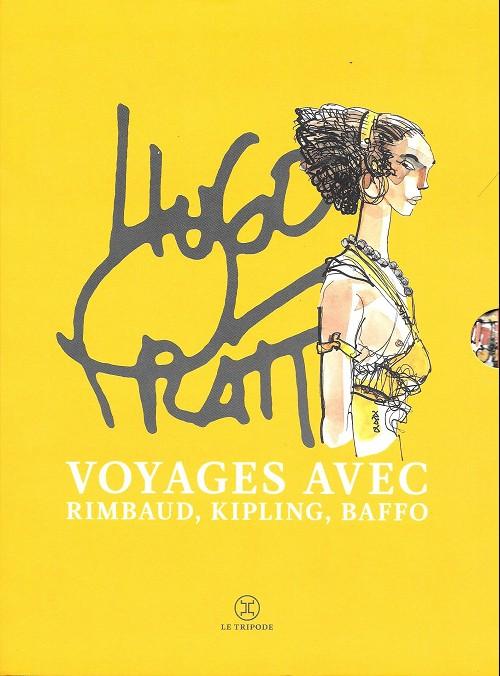 Couverture de (AUT) Pratt, Hugo -COF- Voyages avec Rimbaud, Kippling, Baffo