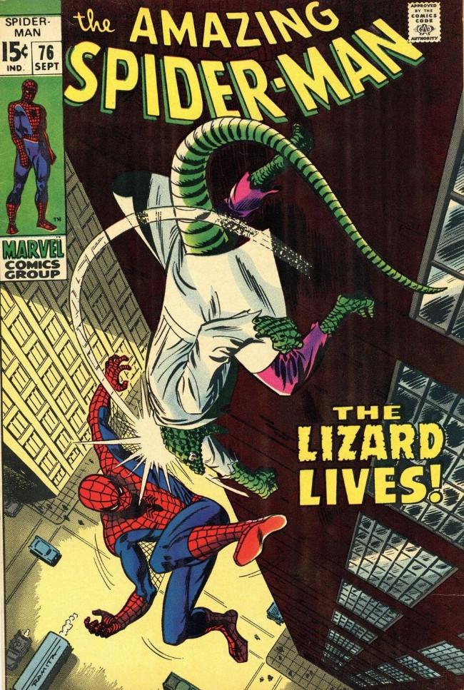 Couverture de The amazing Spider-Man Vol.1 (Marvel comics - 1963) -76- The Lizard Lives!