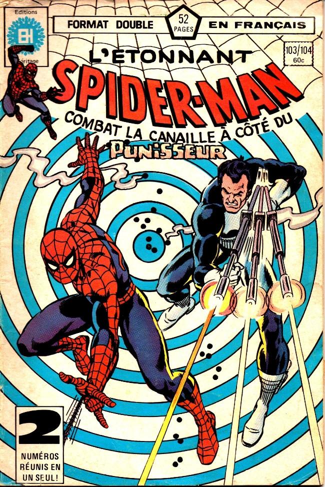 Couverture de L'Étonnant Spider-Man (Éditions Héritage) -103104- Chasse à l'homme!
