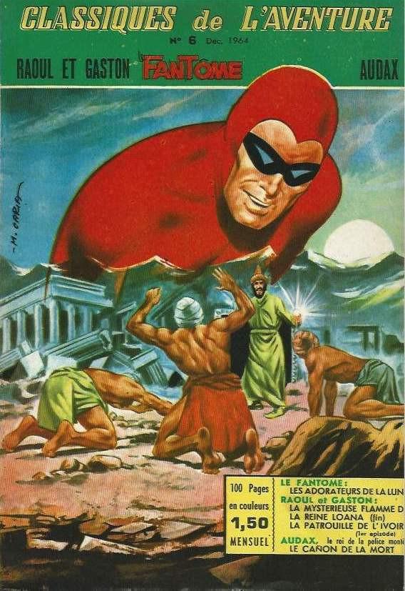 Couverture de Les héros de l'aventure (Classiques de l'aventure, Puis) -6- Le Fantôme : Les adorateurs de la Lune