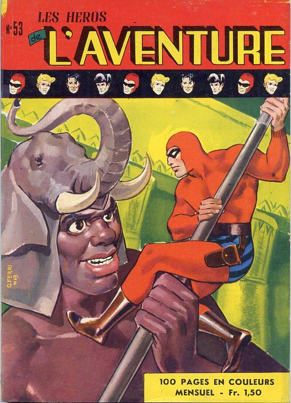 Couverture de Les héros de l'aventure (Classiques de l'aventure, Puis) -53- Le Fantôme : Les éléphants de Sayar