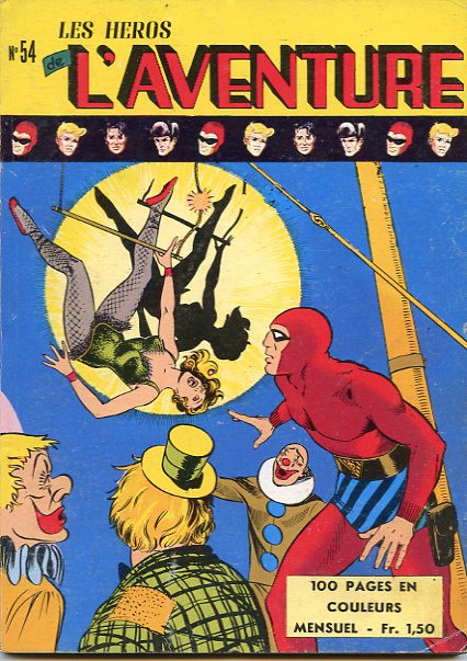 Couverture de Les héros de l'aventure (Classiques de l'aventure, Puis) -54- Le Fantôme : La jeune fille du cirque