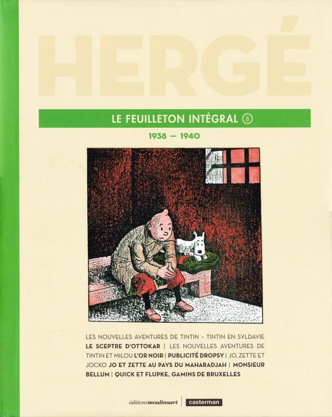 Couverture de Hergé - Le Feuilleton intégral -8- 1938 - 1940
