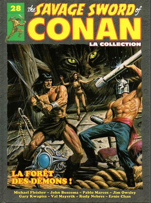 Couverture de Savage Sword of Conan (The) - La Collection (Hachette) -28- La forêt des démons