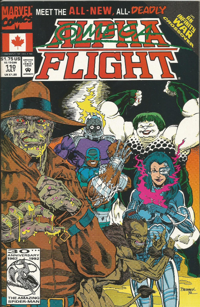 Couverture de Alpha Flight (Marvel comics - 1983) -110- Barebones
