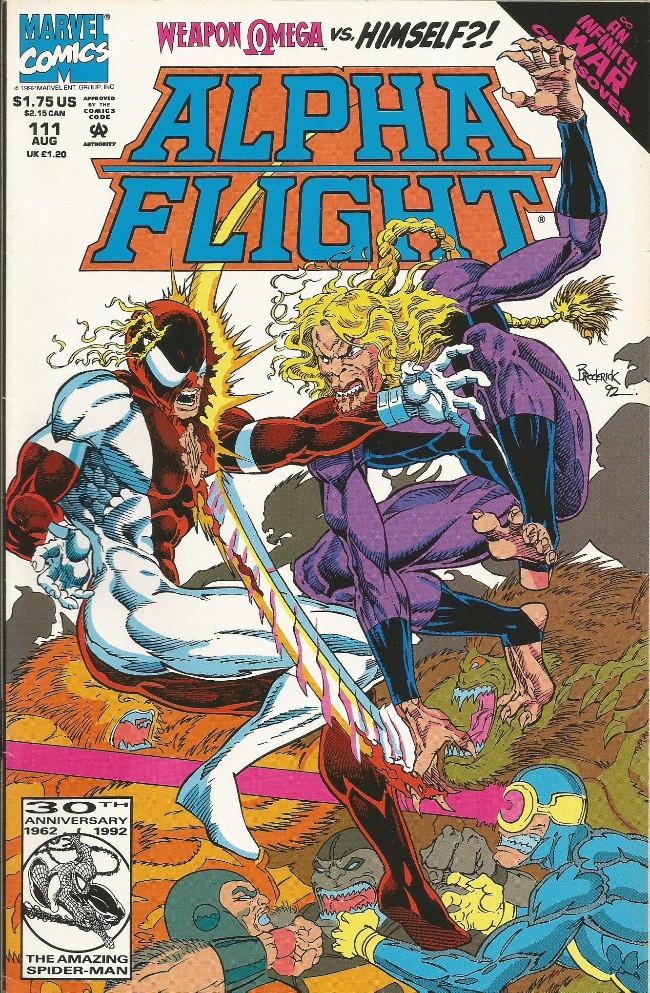 Couverture de Alpha Flight (Marvel comics - 1983) -111- Barebones part 2