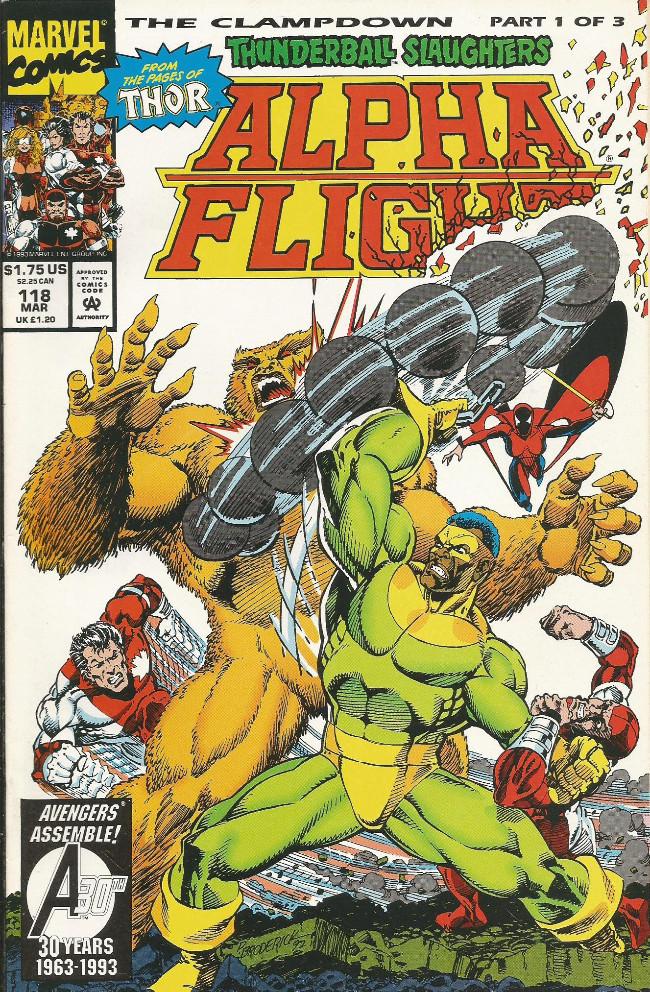 Couverture de Alpha Flight (Marvel comics - 1983) -118- The lampdown !
