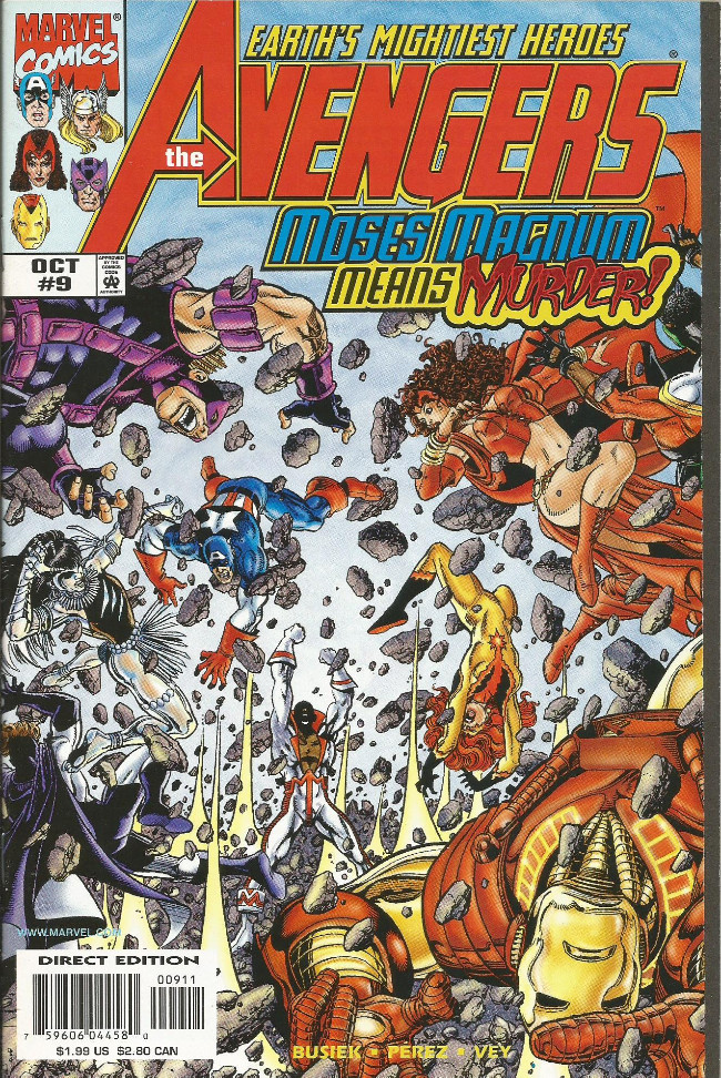 Couverture de Avengers Vol.3 (Marvel comics - 1998) -9- The villain who fell from grace with the earth
