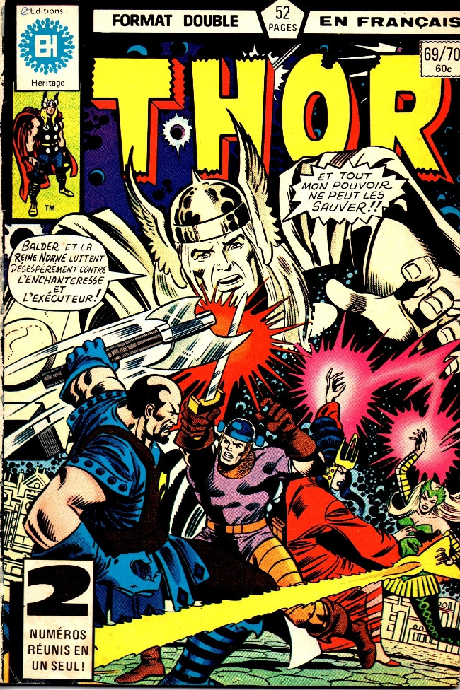 Couverture de Thor (Éditions Héritage) -6970- Les méchants et les vaillants!