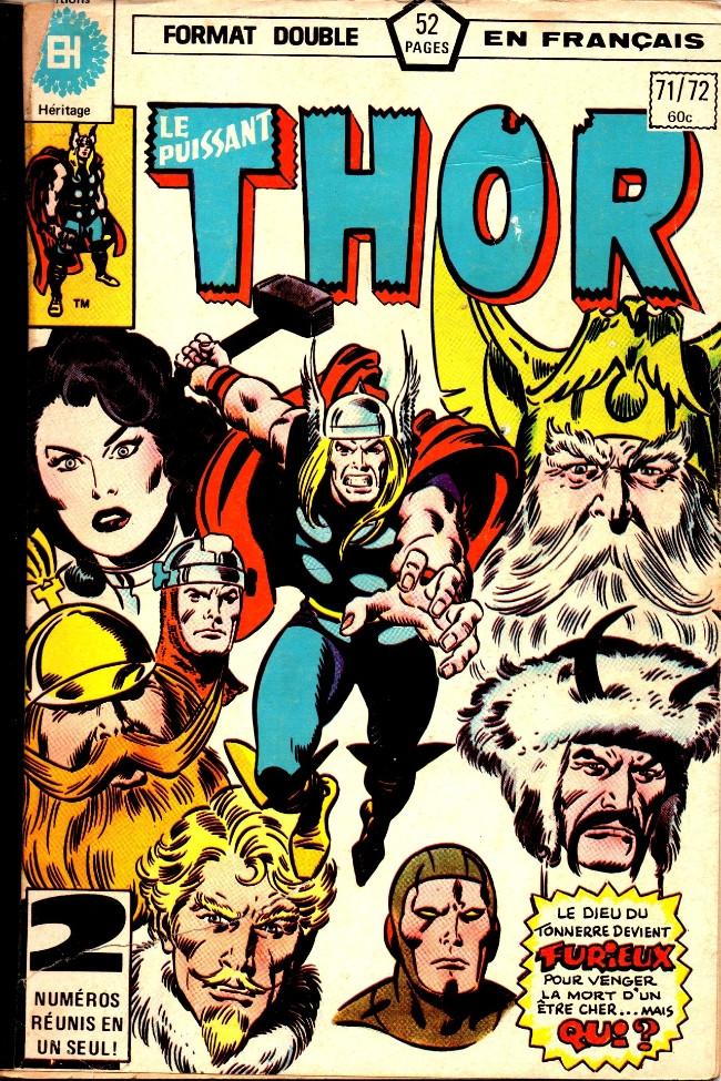 Couverture de Thor (Éditions Héritage) -7172- Même un immortel peut mourir!