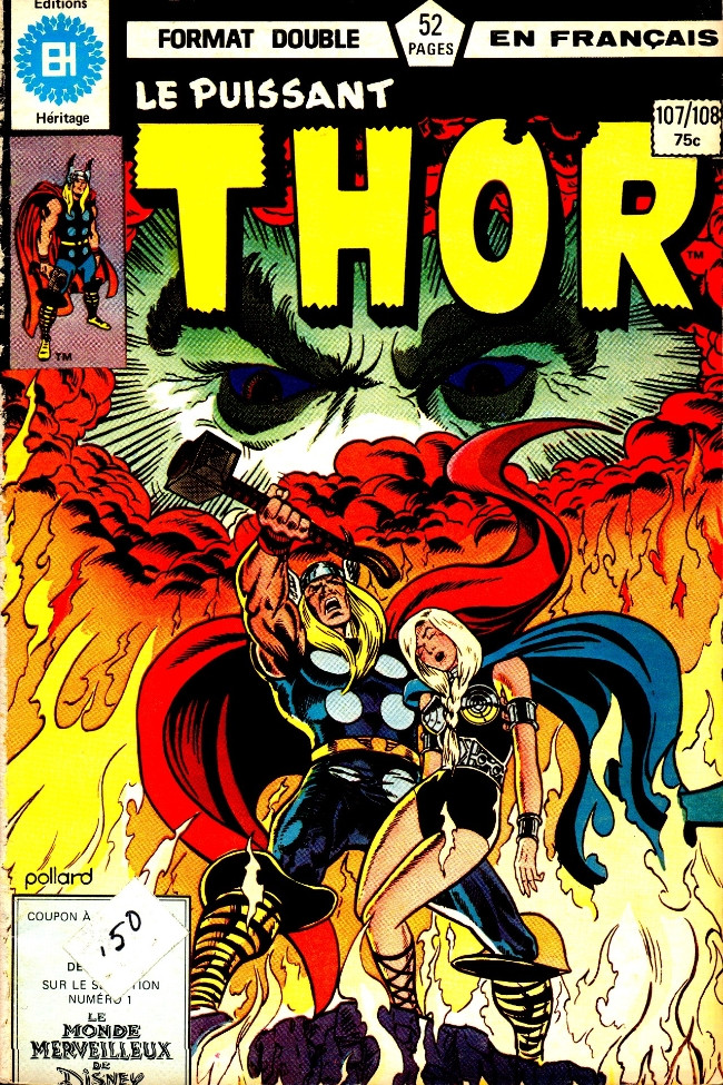 Couverture de Thor (Éditions Héritage) -107108- Le sang du dragon!