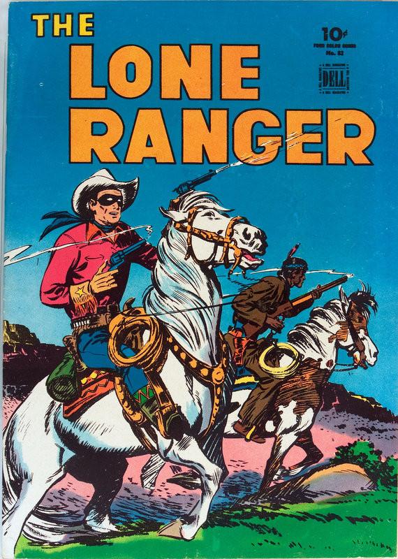 Couverture de Four Color Comics (Dell - 1942) -82- The Lone Ranger