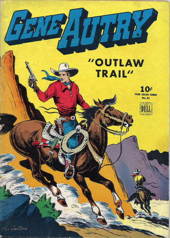 Couverture de Four Color Comics (Dell - 1942) -83- Gene Autry in Outlaw Trail
