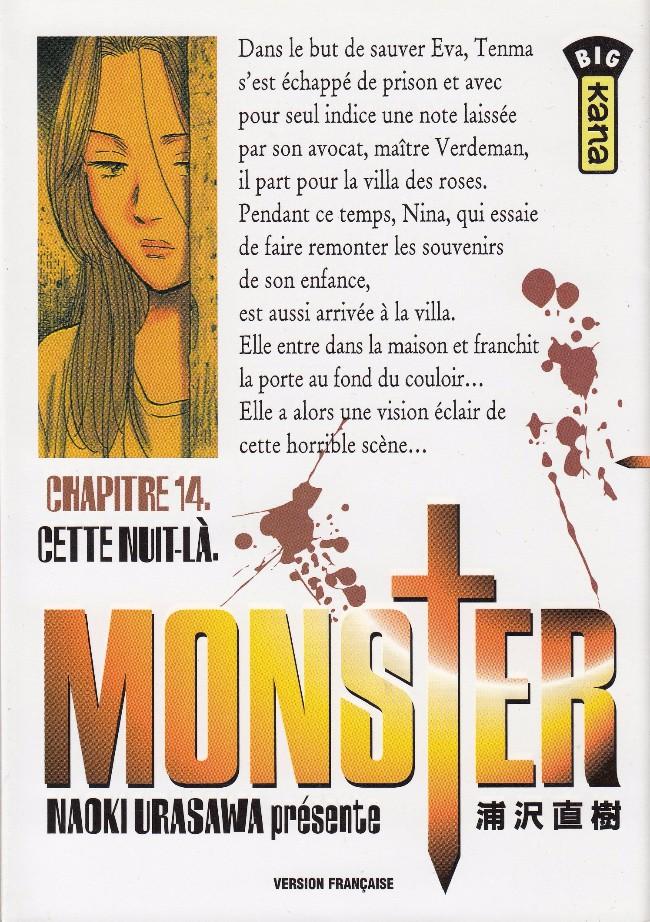 Couverture de Monster (Urasawa) -14- Cette nuit-là