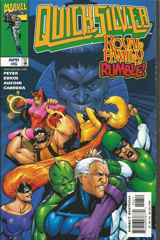 Couverture de Quicksilver (1997) -6- ...mits& tempests...