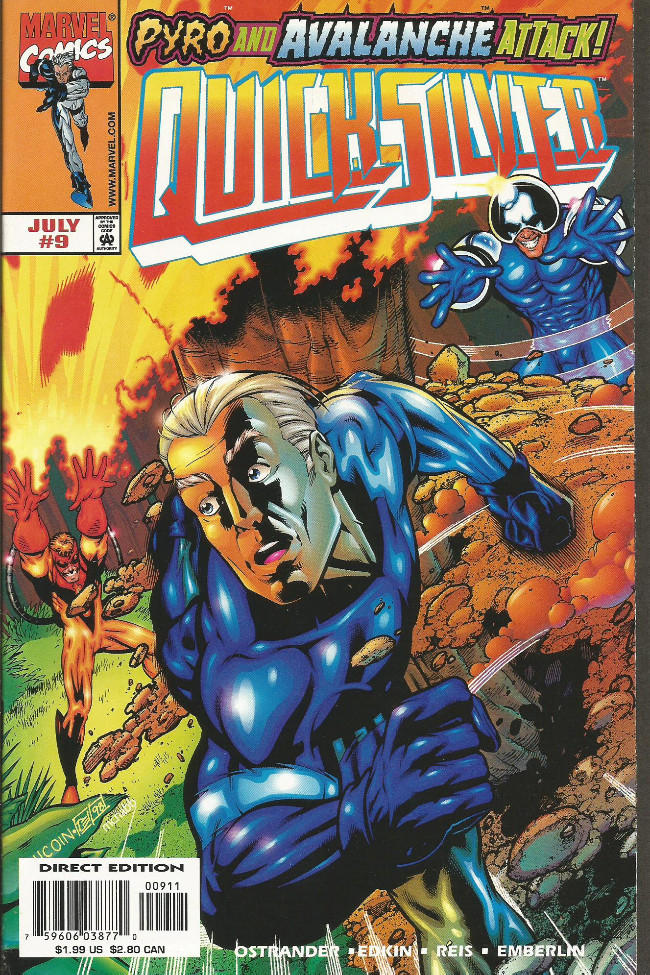 Couverture de Quicksilver (1997) -9- ...Escape from the savage land!