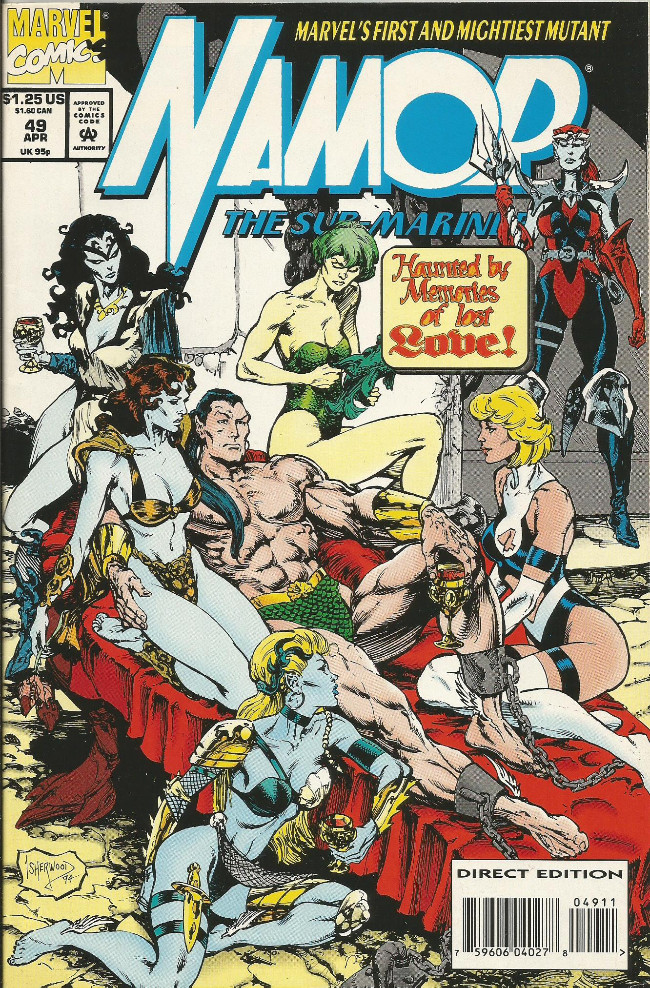 Couverture de Namor, The Sub-Mariner (Marvel - 1990) -49- Too many fish in the sea