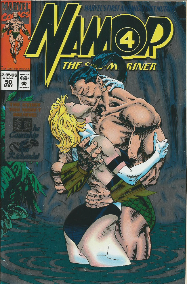 Couverture de Namor, The Sub-Mariner (Marvel - 1990) -50- Someone's been sleeping in my bed