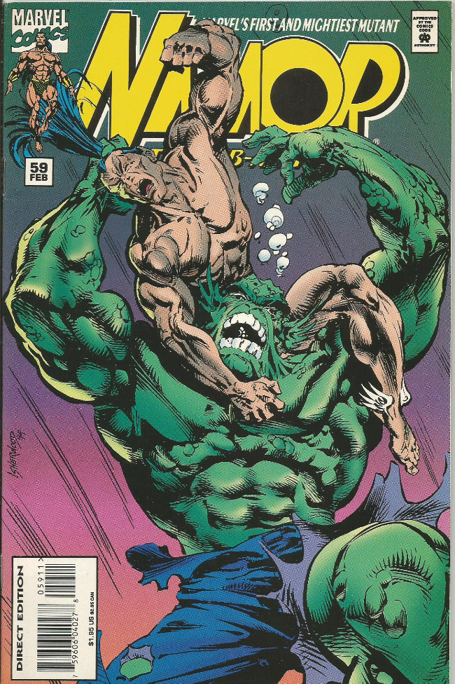 Couverture de Namor, The Sub-Mariner (Marvel - 1990) -59- When titans splash