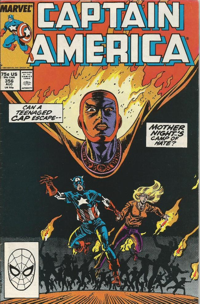 Couverture de Captain America (Marvel comics - 1968) -356- Camptown rages !