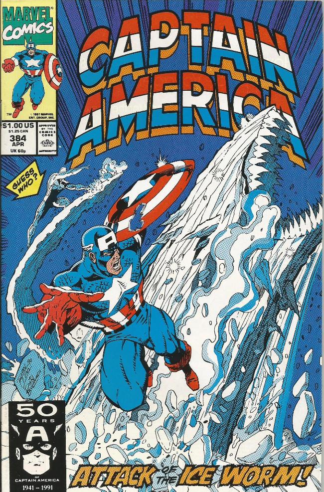 Couverture de Captain America (Marvel comics - 1968) -384- Lair of the ice-worm