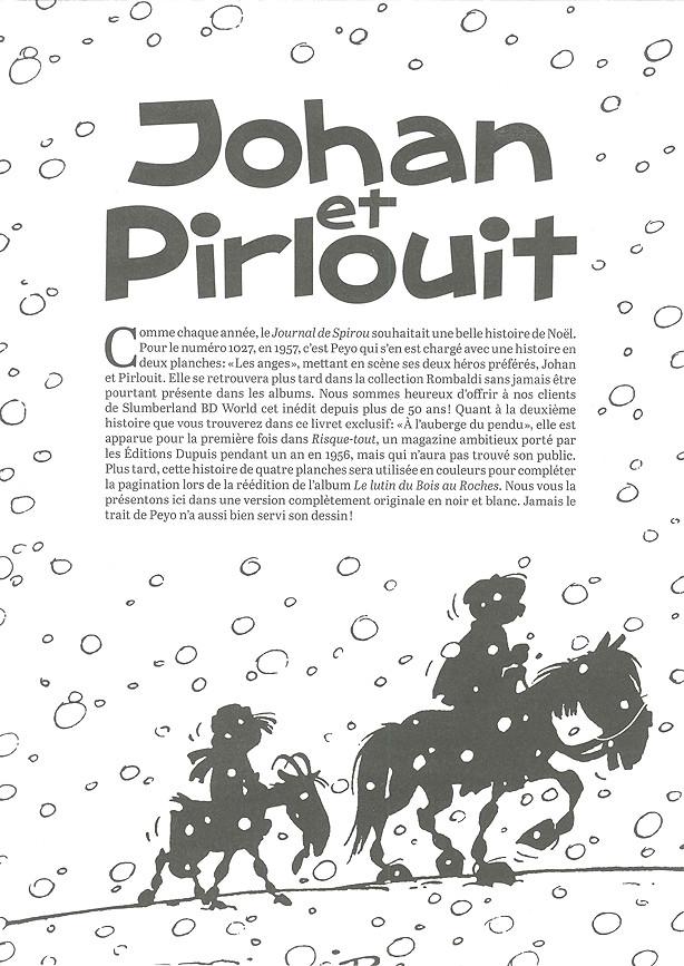 Couverture de Johan et Pirlouit -HS02- Les anges / A l'auberge du pendu