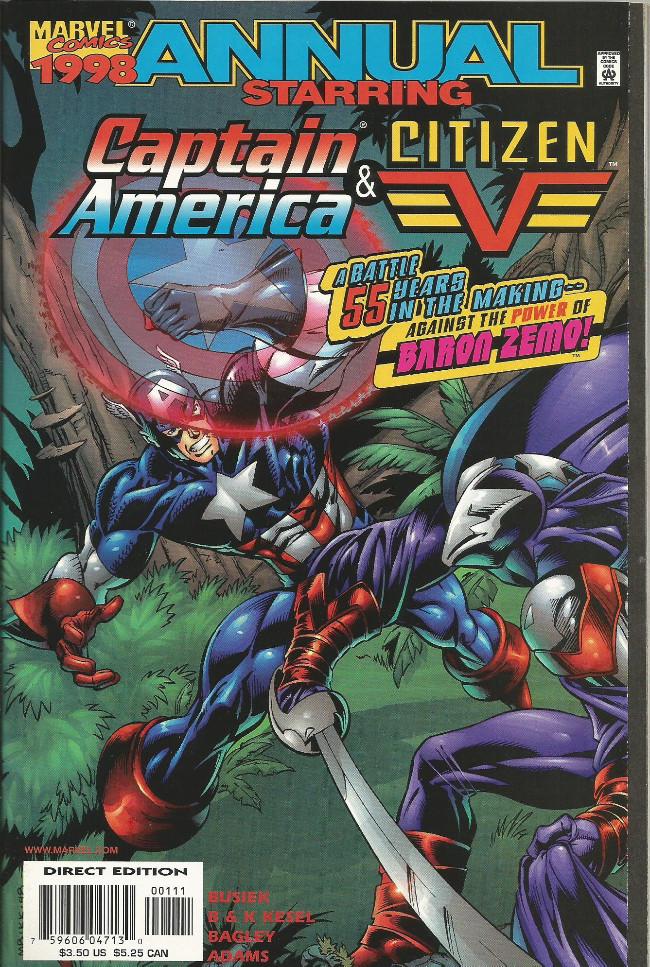 Couverture de Captain America (1998) -AN1998- Captain America & Citizen V