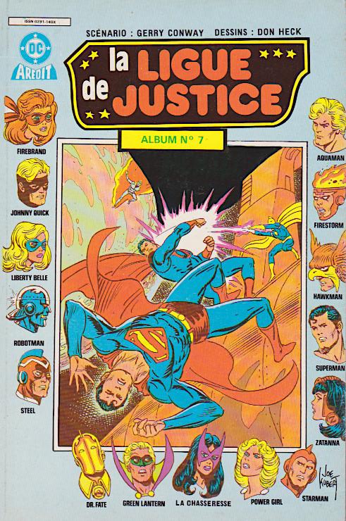 Couverture de La ligue de justice (2e série - Arédit - Arédit en couleurs) -Rec07- Album N°7 (du n°3 au n°4)