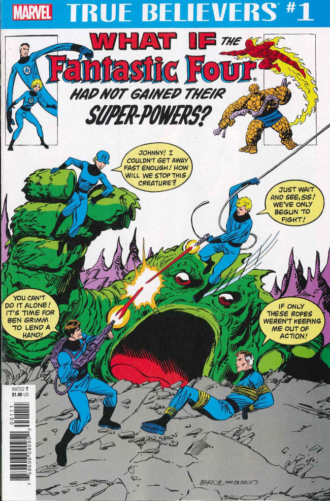 Couverture de True Believers: What If... (2018) - True Believers: What if the Fantastic Four Had Not Gained Their Super-Powers?