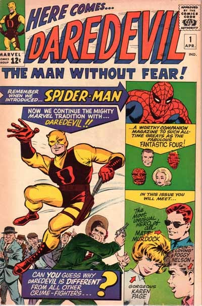 Couverture de Daredevil (1964) -1- The origin of daredevil